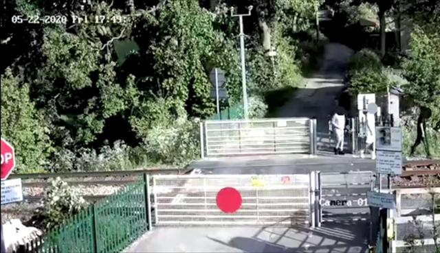 Alarming CCTV shows three teenage trespassers on railway tracks in West Yorkshire