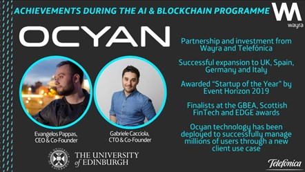 The AI & Blockchain Accelerator opens applications for 2020 programme: Ocyan promo card