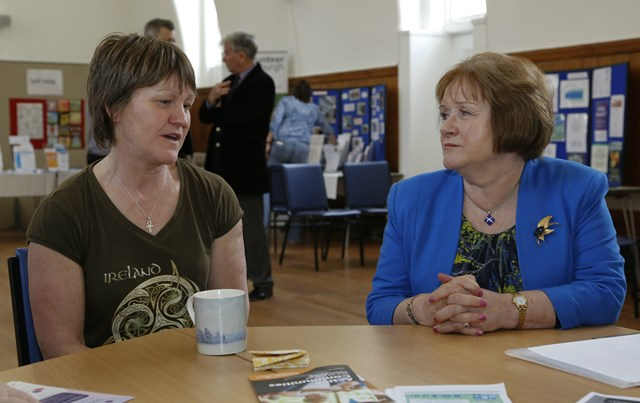 Maureen Watt - Mental Health Strategy launch: Discussions with a service user at NHS Lothian Mental Health Information Station