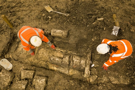 HS2 Archaeologists uncover nine centuries of local history in Buckinghamshire: Archaeologists working on excavating St Mary's Church, Stoke Mandeville