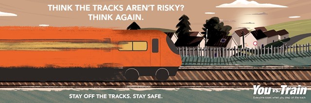 Increase in traffic on the railway network across the Western route means an increase in danger for members of the public: You vs Train Covid19 campaign-2
