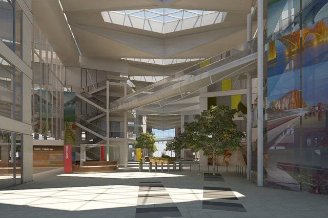 NETWORK RAIL ANNOUNCES KEY CONTRACT FOR MK NATIONAL CENTRE: National Centre - interior