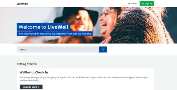 New online resource launched to help you live well: LiveWell Online Image