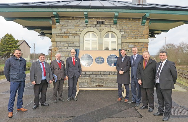 Local community help Network Rail win national award: Network Rail celebrated winning a national award for the restoration of Pantyffynnon Station