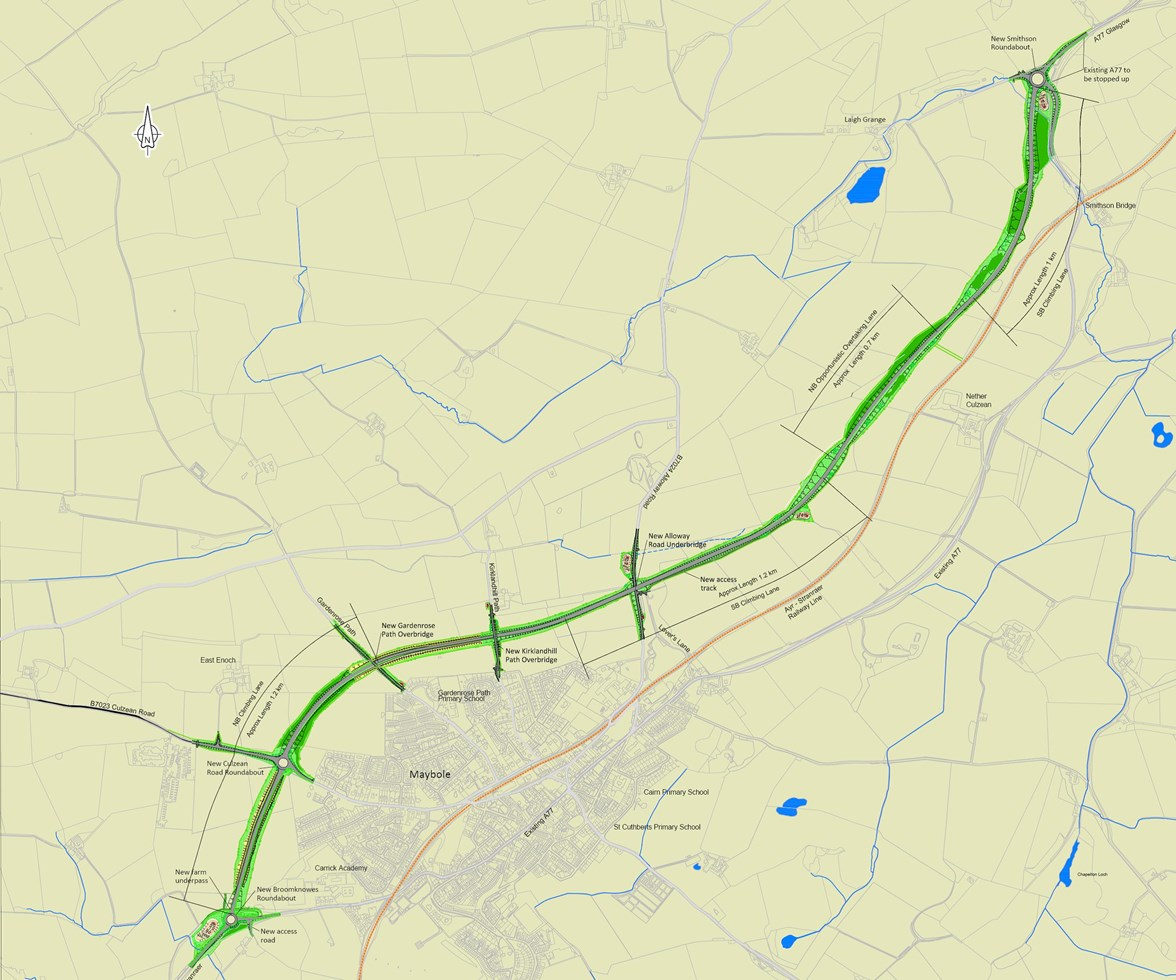 Maybole bypass design drawing
