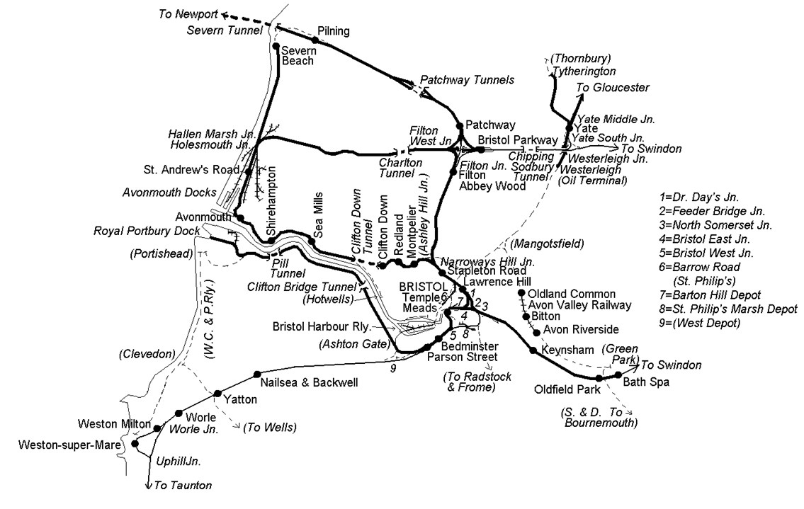 Bristol Coal-Stone Haul: The Bristol route