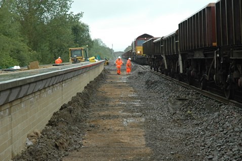 New platform and new trackbed