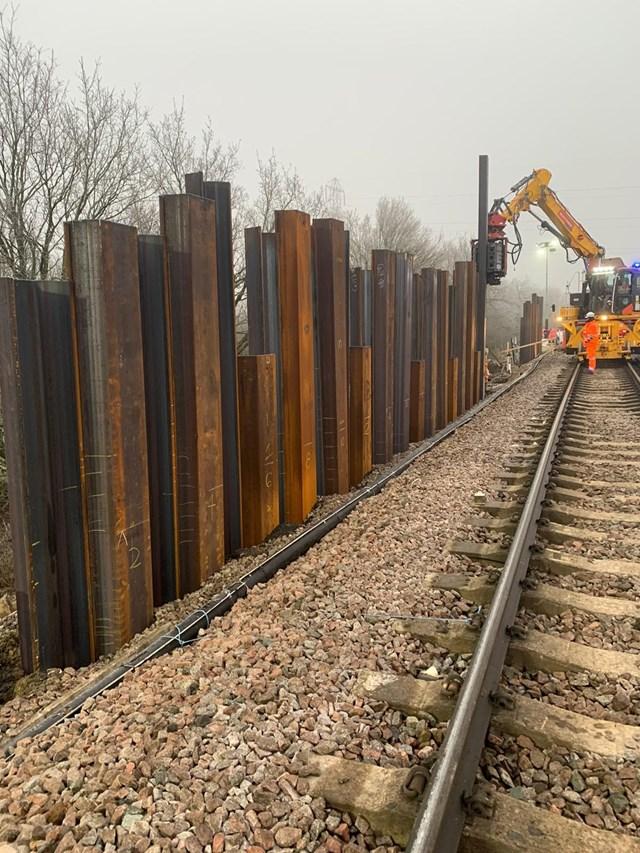 Stabilisation works between Horley and Salfords