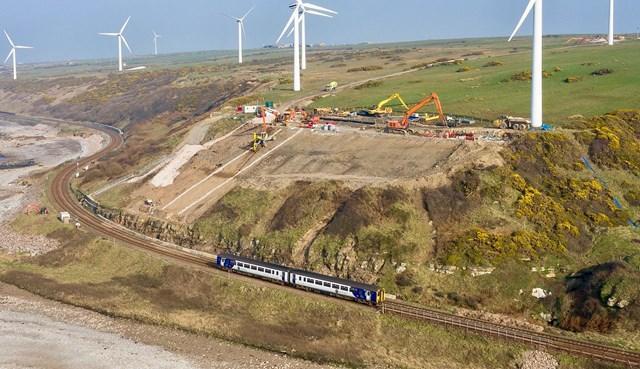 Lowca landslip excavation work - Photo credit: J Murphy & Sons