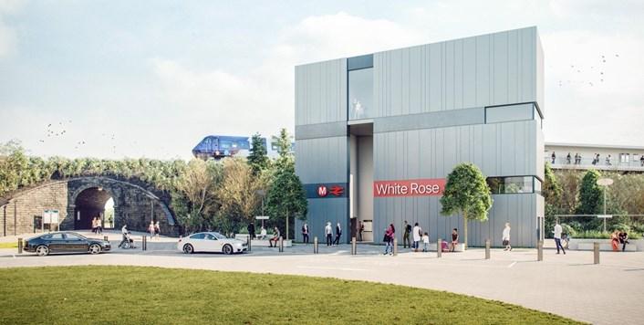 White Rose Railway Station: Image showing plans for new White Rose Railway Station in Leeds.