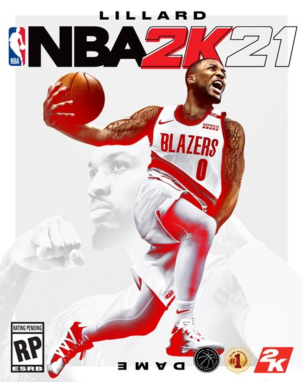 NBA 2K21 - Damian Lillard Current-Gen Cover-2