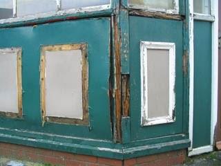 Stalybridge buffet bar - the damaged exterior