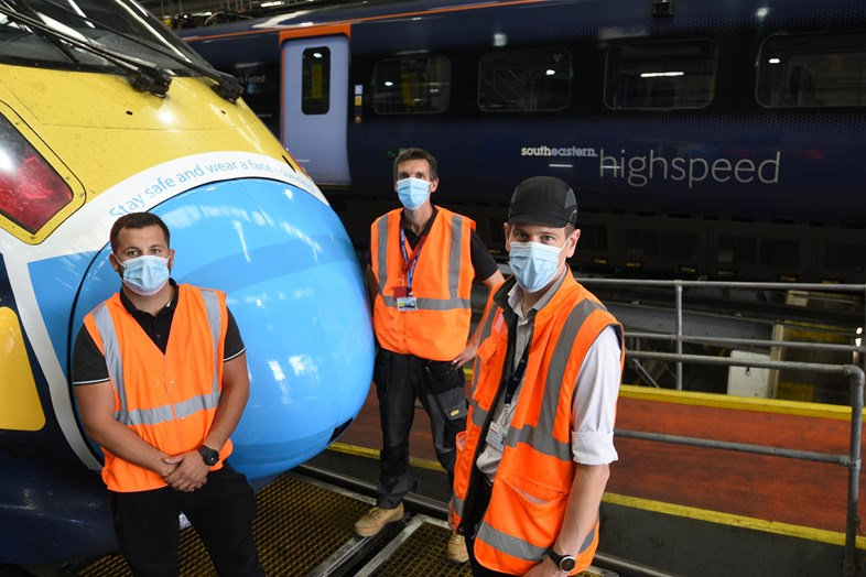 Southeastern unveils face mask artwork on high speed service: SOUTHEASTERN UNVEILS FACE MASK ARTWORK ON HIGH SPEED SERVICE 2