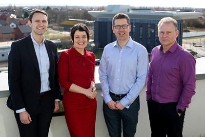 Teesside University joins Siemens Connected Curriculum: David Hughes, Siobhan Fenton, Steve Jones, Alan Wardle