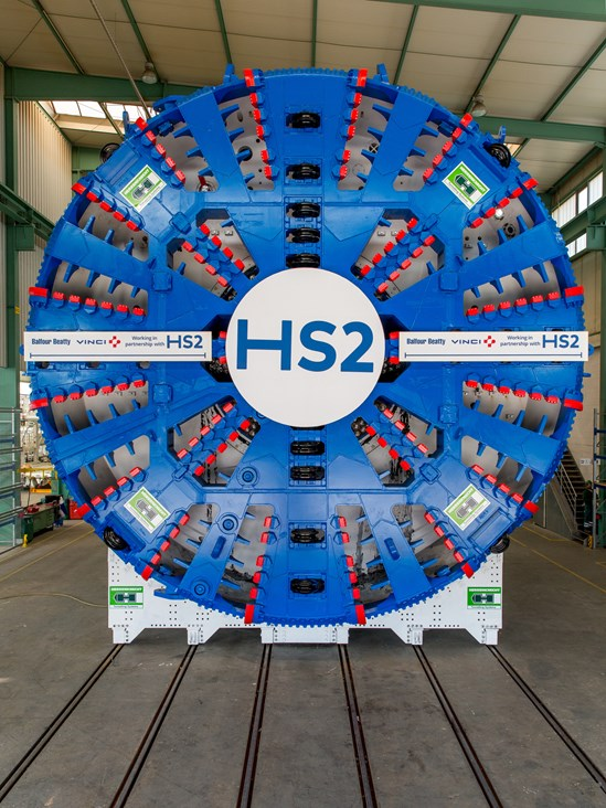 TBM for HS2's Long Itchington Wood Tunnel: Credit: Herrenknecht/BBV