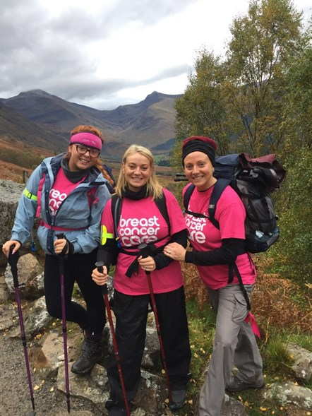 Ben Nevis climb: Left: Chynna Cochrane Right: Kim Thompson