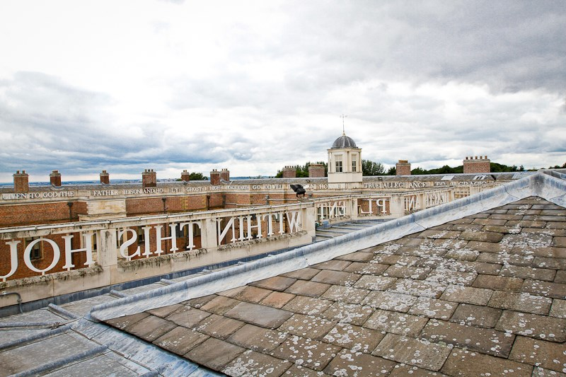 Temple Newsam House: The rooftop of Temple Newsam House in Leeds.