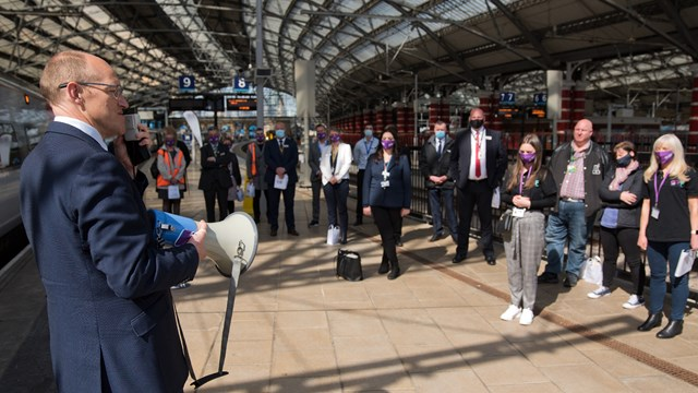 Network Rail helps Railway Family Week fundraise £50,000: Railway Family Week train naming event at Liverpool Lime Street