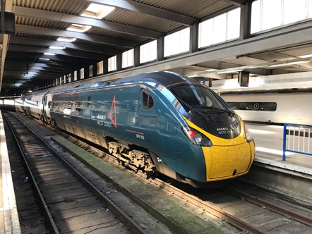 Avanti West Coast Pendolino 390155 - Euston Station