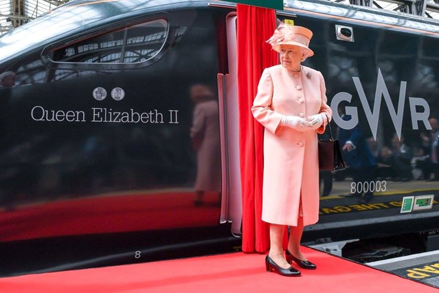 Documentary series continues as the Queen makes a special visit to London Paddington: The Queen named the new IET 'Queen Elizabeth II'