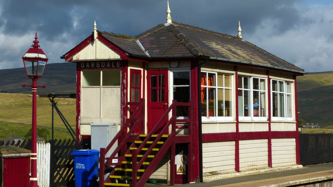 Historic signal box restoration on picturesque Settle to Carlisle line: Garsdale signal box - picture credit Mark Harvey from Friends of Settle to Carlisle Line