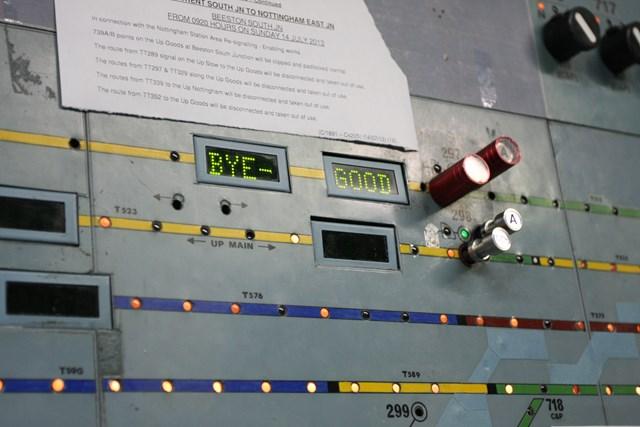 Nottingham resignalling: Trent Power Signal Box is switched out: Nottingham resignalling: a last message from Trent Power Signal Box, 1969-2013.