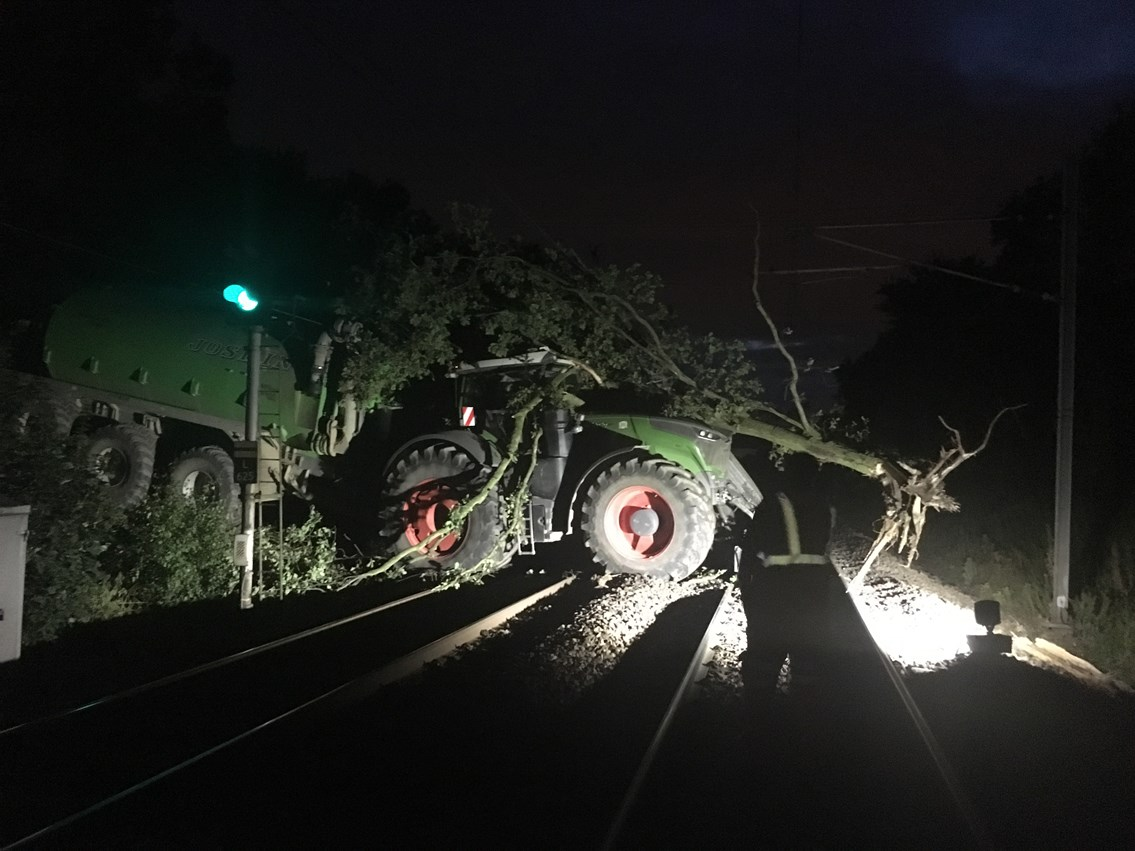 Passengers advised to check before they travel after tractor on railway line at Fitzwilliam, near Wakefield: Tractor on line at Fitzwilliam