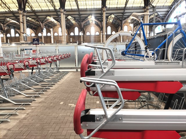 Liverpool Street new cycle racks