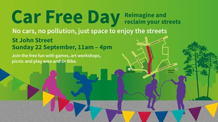 Islington's biggest ever Car Free Day celebrations highlight action on poor air quality: Car free day