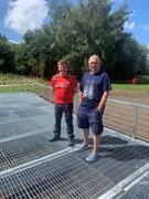 Cllr Craske at Old Farm Park playground and wildlife habitat with Gordon Davis