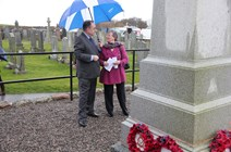 First digital archive for WWI wills: First Minister and local minister Dr Flora Munro lay a wreath at the Portlethen war memorial as First Minister announces that the wills of 26,000 WW1 Scottish soldiers will be digitalised by NRS for the first time.