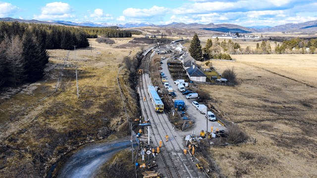 Inverness line to reopen for passengers and freight services: Dalwhinnie 14 04 2021