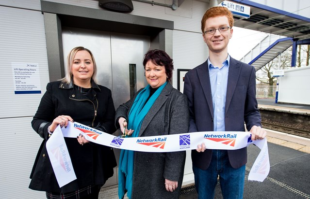 Investment in Westerton gives station accessibility a lift: Rona Mackay MSP officially opens new station footbridge at Westerton