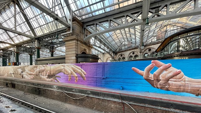 New artwork for Glasgow Central: Central mural 2