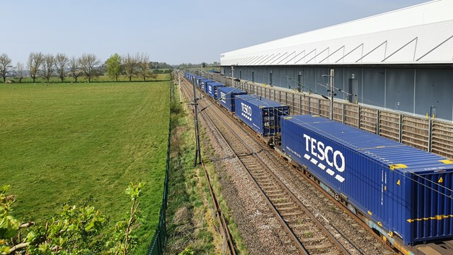 Supermarket stock takes scenic route during Covid-19 lock-down: Tesco containers freight at DIRFT (1)