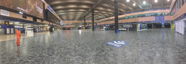 Early May Euston concourse