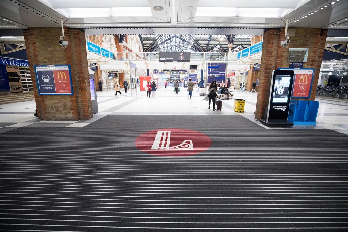 Liverpool Street new entrance matting