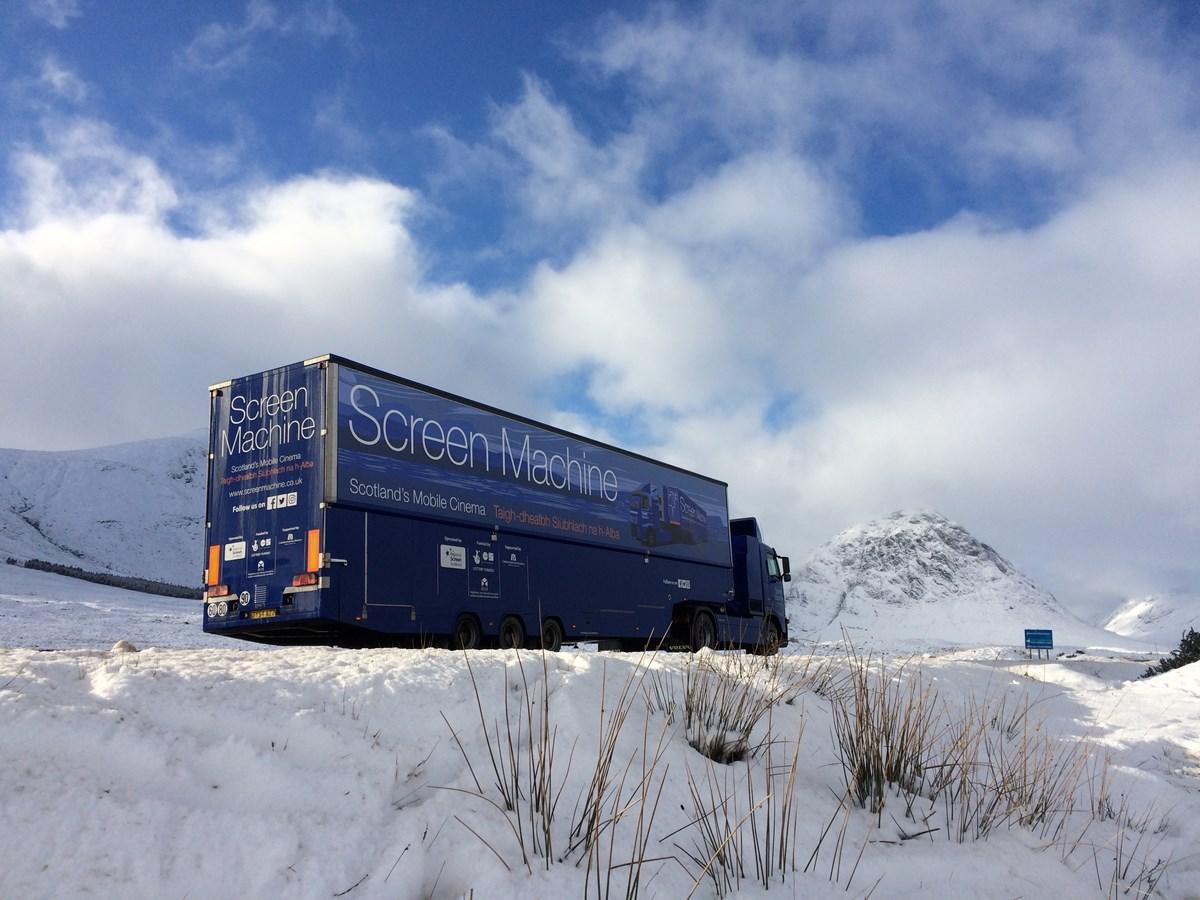 Christmas photo In Glencoe the mountain is Buachaille Etive Mor