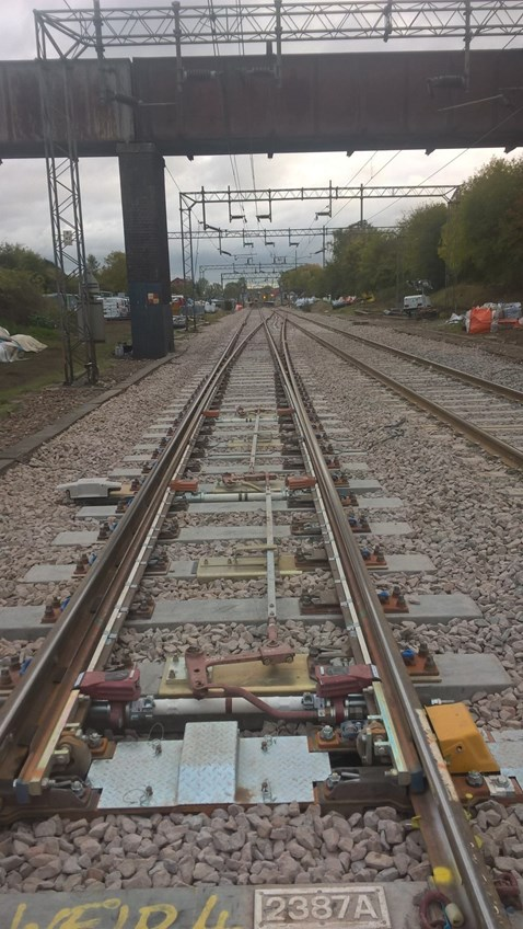 New switches and crossings units at Kelvedon Essex