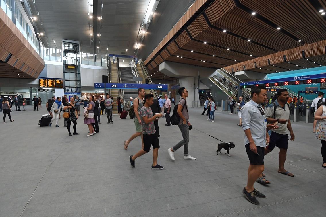 London Bridge concourse: The new concourse at London Bridge station