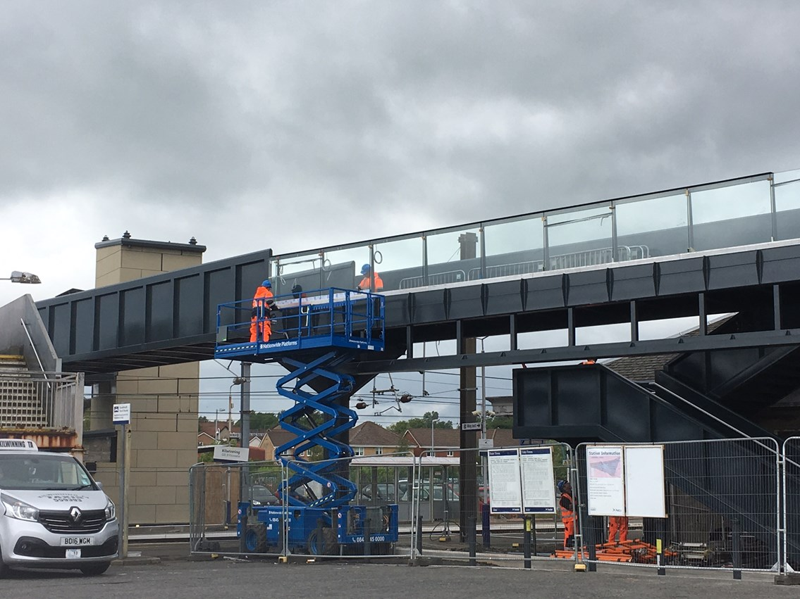 New bridge structure is step towards step-free access at Kilwinning: IMG 4549