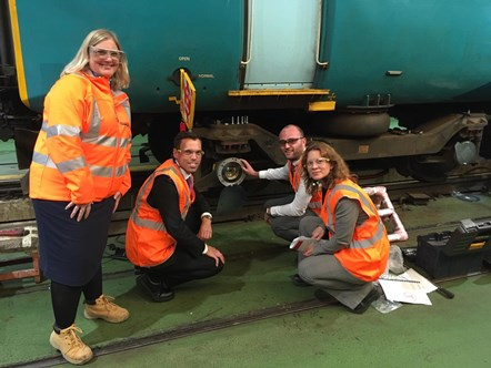 Wales Rail Industry Gears up for Autumn: Ken Skates and the TfW team at Canton depot