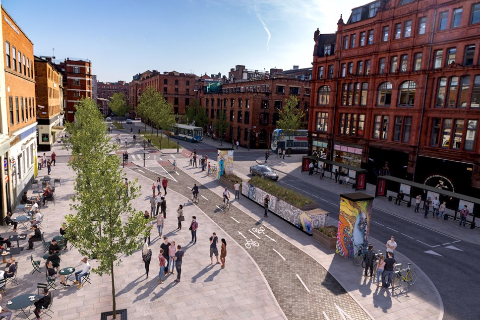 Visualisation of Stevenson Square in Manchester's Northern Quarter
