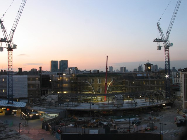 SKY'S THE LIMIT AS LANDMARK KING'S CROSS CONCOURSE TAKES SHAPE: Western concourse - 4 May 2010