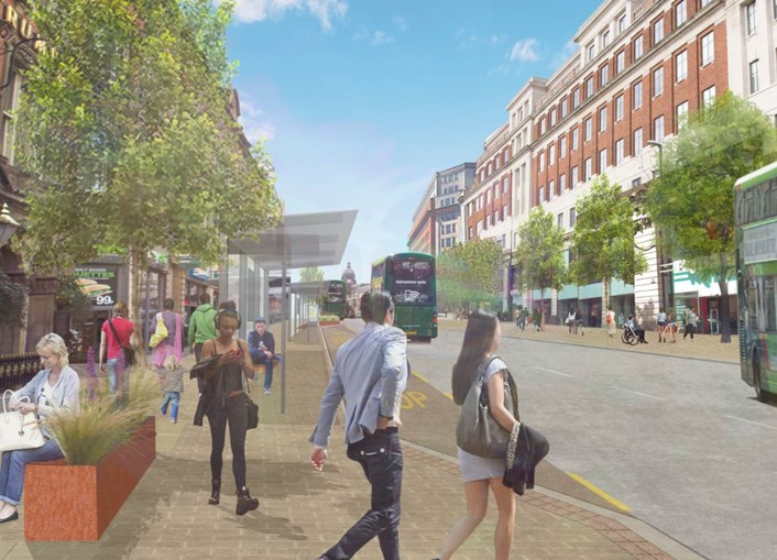 New animation shows how £23m Headrow scheme will look when finished: Headrow - Horse & Trumpet