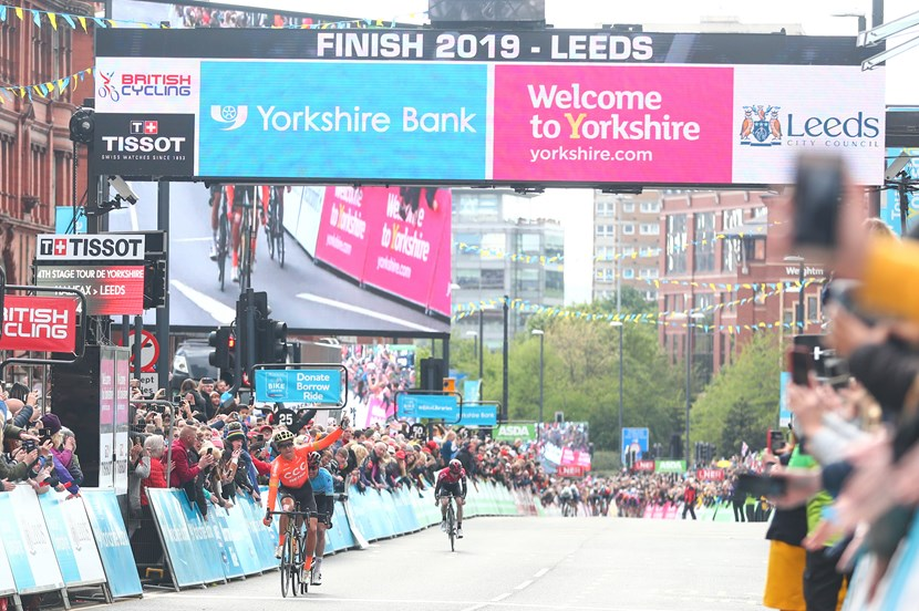 Lawless becomes first British winner of Tour de Yorkshire as Van Avermaet takes final stage into Leeds: tdyfinish2019headrow-969320.jpg