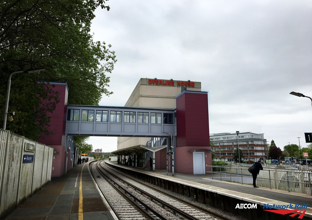 More than 12 million passengers to benefit from new lifts and footbridges as plans progress for Access for All improvements across the South East: Crawley - Access for All