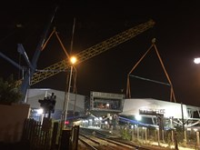 Port Talbot Parkway's new bridge being lifted into place