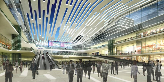 Euston: Conceptual image of potential future development at Euston station