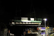 Burnley canal bridge night-4